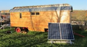 Solare Stromversorgung für einen Zirkuswagen